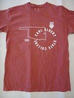 Crimson T-Shirt Comfort Colors S/S w/state